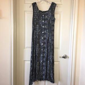 Jane Ashley   Vintage 90s Button Up Maxi Dress